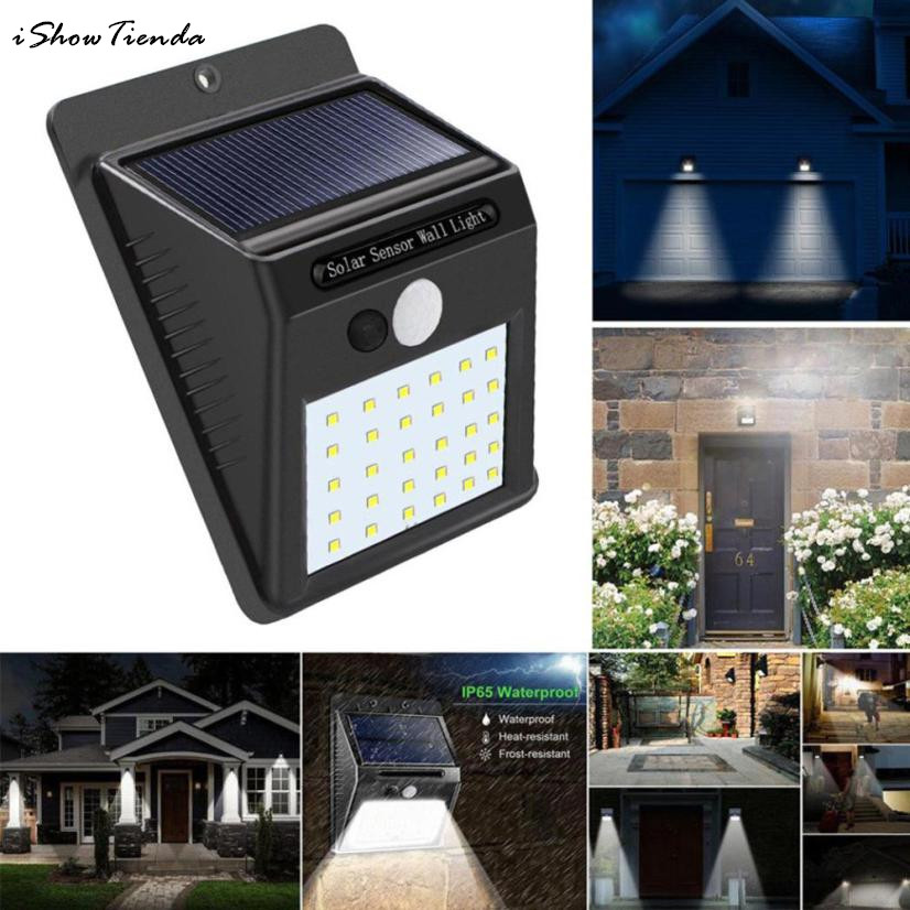Us 14 09 30 Off 2pcs 30led Solar Ed Wall Light Motion Sensor Outdoor Garden Security Lamp Installing S Sheds Storage In