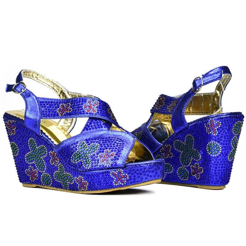 Calidad plata púrpura Color Juego Bolsos Negro rojo Bolsa azul De Y Italiano Con Real oro Azul Zapatos A Italiana Boda Alta pwrpq7THZ