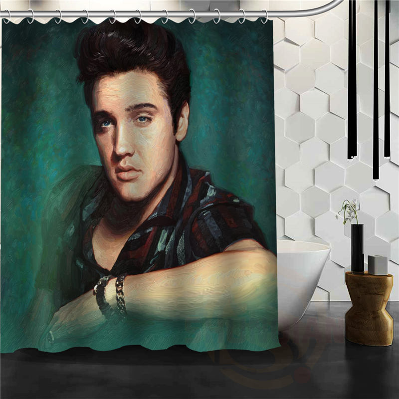 Classical Latest Elvis Presley Shower Curtain Pattern Personalized Custom Bath Curtain Fabric Polyester beautiful H0308@72