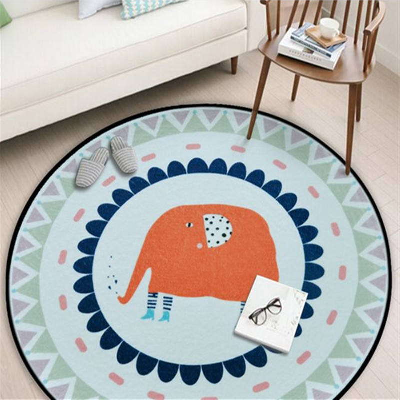 Round large Area Carpets for Living Room Bedroom Game Crawl Rugs Kids Room Computer Chair Floor Mat/Rug Cloakroom decor Carpet