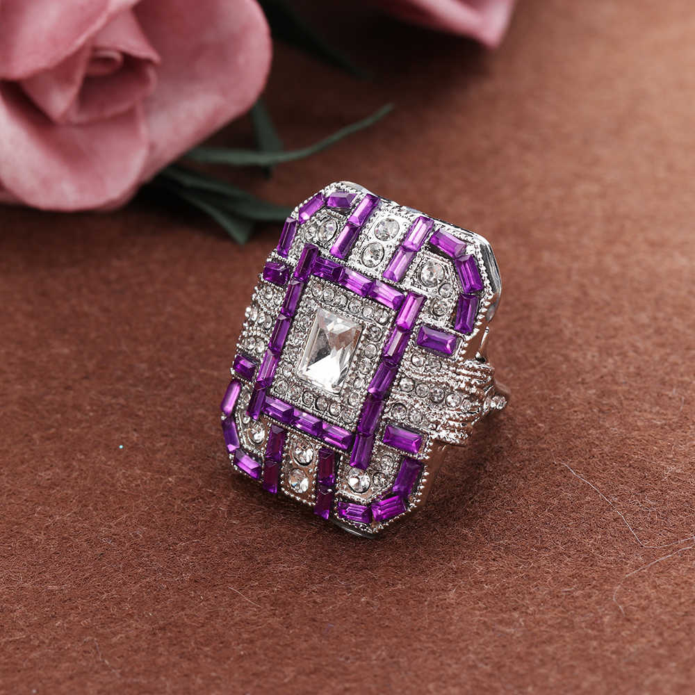 ... 1 PCS Antique Art Deco Large 925 Sterling Silver Blue   Ring Women Men  Anniversary Proposal ... 866f346a4cc7