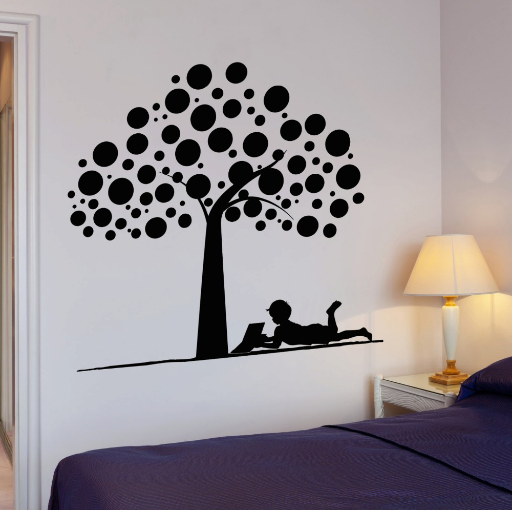 US $8 98 OFF Wall Stickers Tree For Kids Room Removable Vinyl Art Sticker Wallpaper Wall Decals Bedroom Home Decor Waterproof Mural ZA085 Tree For