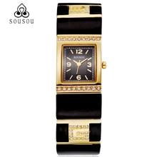 Classic Relojes de Las Mujeres Vestido de las señoras de Moda Casual relojes de Pulsera de Cuarzo Negro Correa de Acero Reloj reloj mujer montre femme