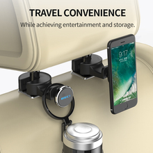 MEIDI Universal Car Headrest Mount Magnetic Car Phone Holder for iPhone6 7puls/Samsung/Xiaomi /ipad Cell Phone, Fix on Metal Rod