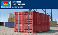 Trumpet 01029 1:35 20 Feet Container Assembling Model Building Kits Toy
