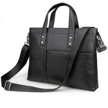 2016 New Arrival 100% Leather Briefcases Men's  Cow Leather Messenger Shoulder Bag Handbags 7329