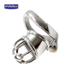 FRRK male chastity lock cage metal stell penis ring 304 stainless steel  cock in sex toy