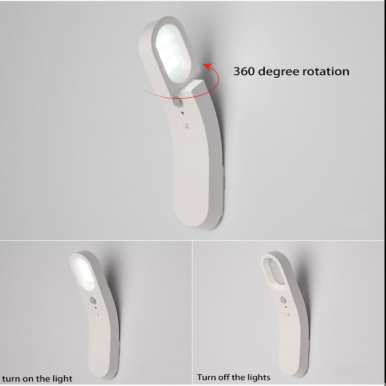 High Grade LED Bulb Indoor Wall Night Lamp Rechargeable Portable Human Body Sensor Light Bedroom Balcony Decoration Night Lamp wireless led wall stick anywhere energy saving human body sensor motion sensing night light lamp decoration door