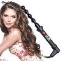 Espiral eléctrica Rizador de Pelo de Cerámica Herramientas de Peinado Del Cabello Rulo de Pelo Curling Iron Varita Salon Styler HS47HQ