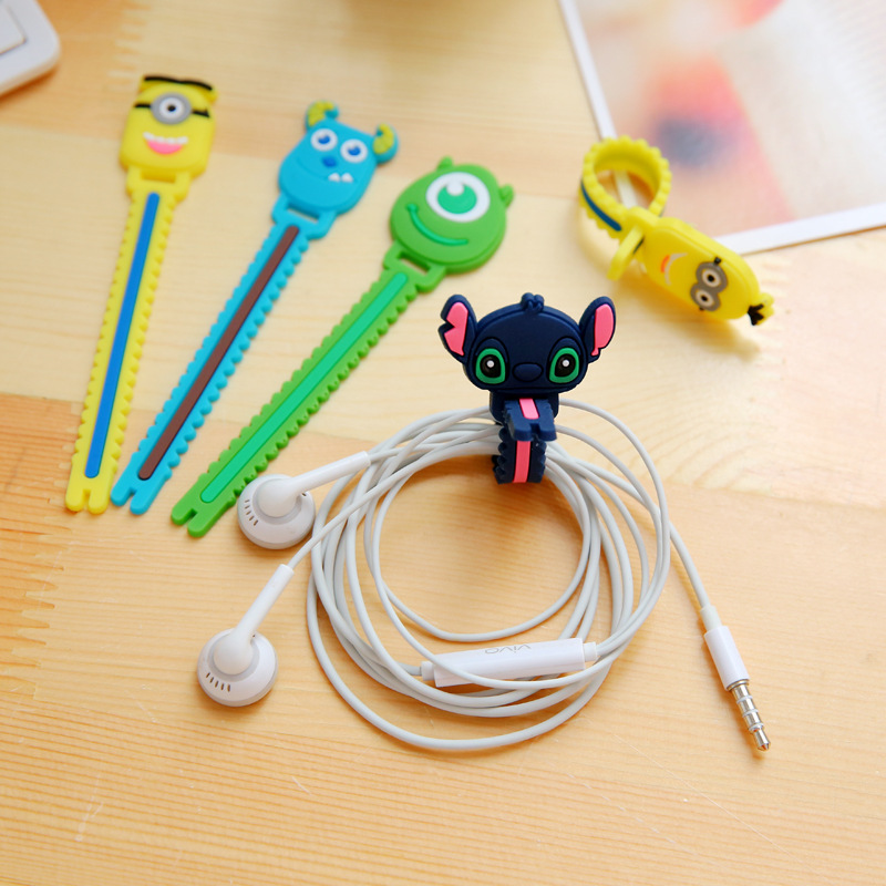 Cable Winder Digital Cables 50pcs/lot Cute Rilakkuma Giraffe Cable Winder Clip Earphone Winder Silicone Cable Cord Holder For Earphone Organize Free Ship
