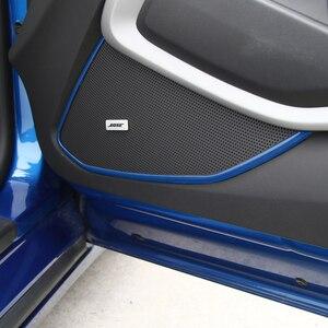 Image 2 - MOPAI ABS araba iç kapı hoparlör dekorasyon kapakları Trim çıkartmalar için Chevrolet Camaro 2017 araba aksesuarları Styling