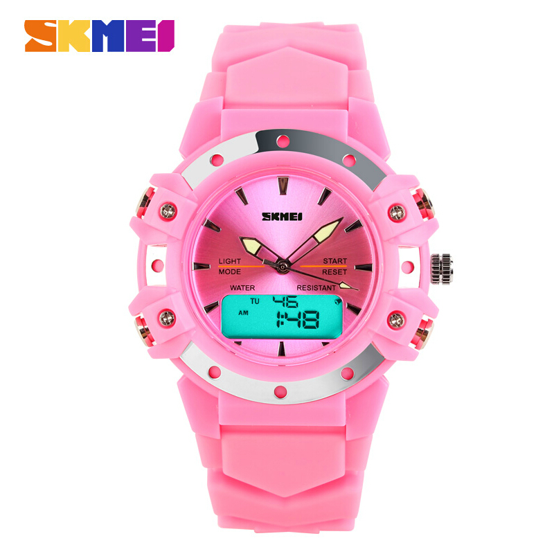 Skmei Casual Wristwatches Digital & Analog Multifunction Quartz Watch 30m Waterproof Student Sports Watches for Women Men Clock skmei outdoor sports watches men quartz digital waterproof military watch fashion casual multifunction student men wristwatches