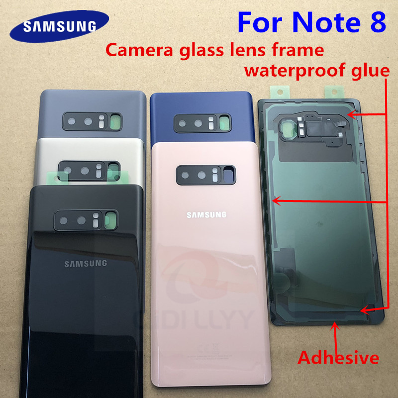 Note fitted Rear Door 99 For Case Housing N9500 N950f Samsung for 4 N950 Glass Galaxy 8 Cover Us Cases Back Battery Cover