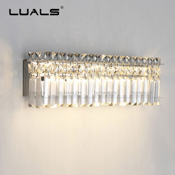 Simple Crystal Wall Lamp Modern Home Deco Lighting Bedroom Crystal Wall Light Luxurious K9 Crystal Wall Sconce Contains LED Bulb