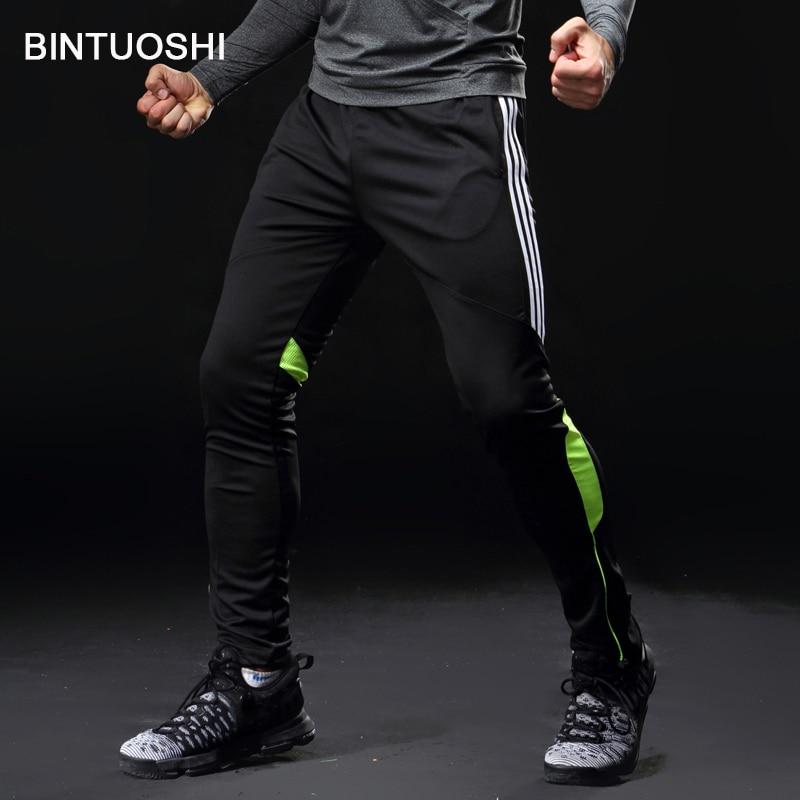 Лински футбол тренировочные брюки мужчины с карманом футбольные брюки бег фитнес тренировки бег спортивные штаны