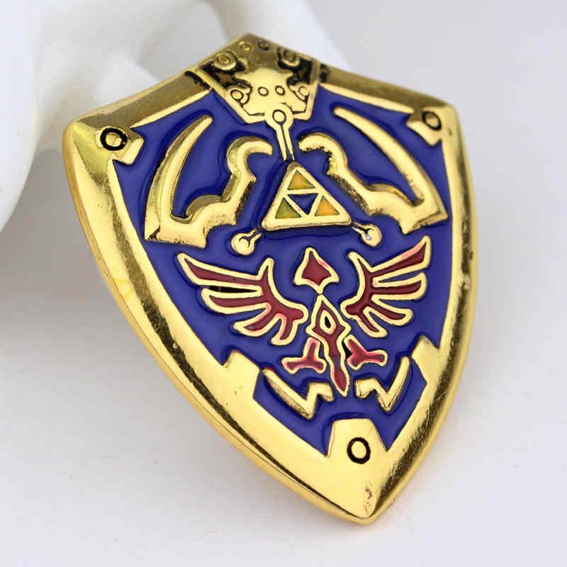 Di nuovo modo di Gioco della Serie The Legend of Zelda Shield Spille Spilla di Alta qualità risvolto Spille men Dress Accessori Per Uomo e Le Donne