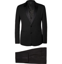 2017 fall classic black wool with silk satin face man's tuxedo suit custom tailor made man's MTM wedding suit 2018 VA