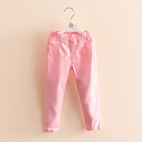 Girls Pencil Pants Candy Color Girl Trousers Leisure Solid Color Kids Long Pants Children Clothing