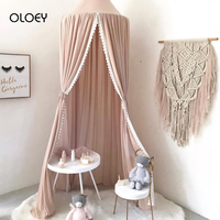OLOEY Baby Canopy Mosquito Net Cotton Princess Bed Canopy Girls Room Decoration Bed Canopy Pest Control Reject Net Crib Netting