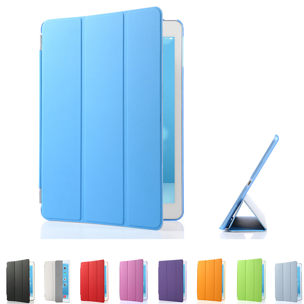 For iPad Air 1 Case Cover with Stand, Ultra Thin PU Leather+Silicone Soft Back Smart Cas ...