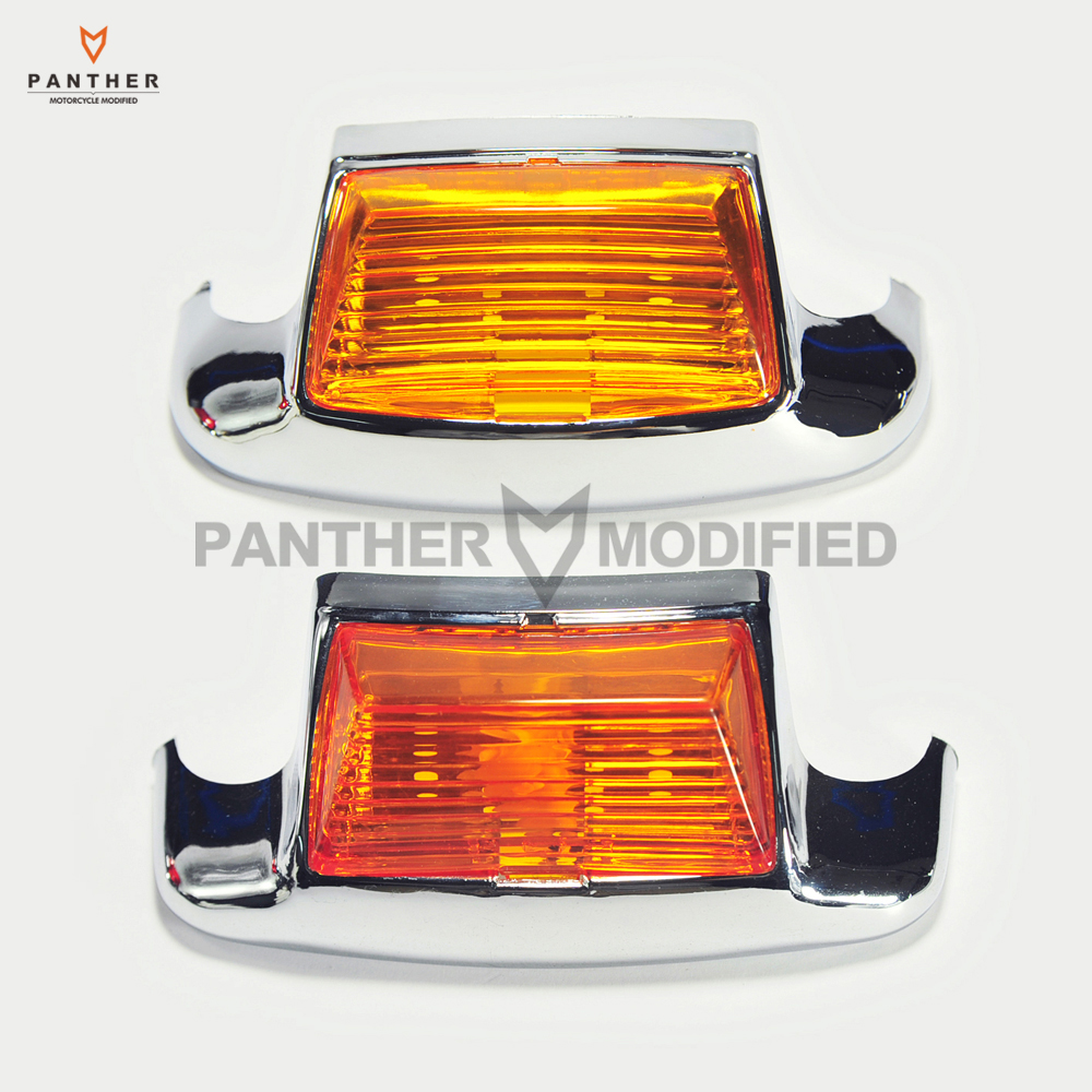 Yellow Motorcycle Front / Rear Fender Tip Light  Lens For Harley FLHT Electra Glide Standard motorcycle front