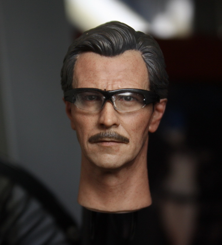 1/6 scale figure doll head shape for 12 action figure doll accessories Batman James Gordon Head carved not include body,clothes hot figures doll accessories pirp toys 1 6 batman police commissioner gordon inspector dresscode clothes set for 12 figure body