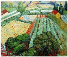 Field with Poppies in Saint Remy by Vincent Van Gogh Handpainted