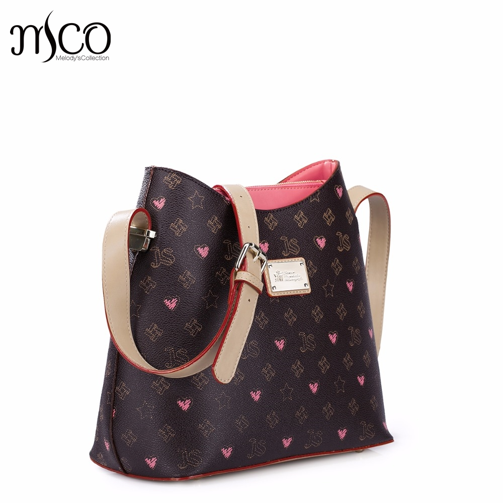 Hot Sale Brand Design Fashion Graffiti Printing PVC with PU Leather Women Classic Flap Shoulder Bag