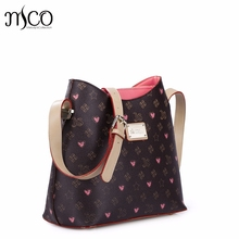 Hot Sale Brand Design Fashion Graffiti Printing PVC with PU Leather Women Classic Flap Shoulder Bag Gift For Girls ladies bolsos
