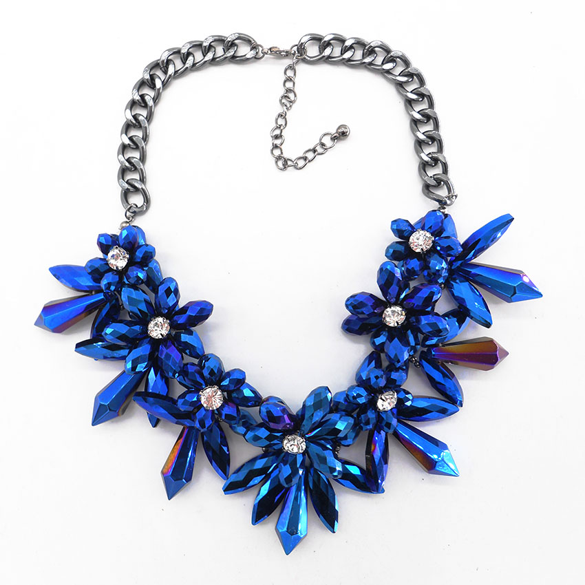 2016 Blue Flower Crystal Big Brand Best Gifts Gem ...