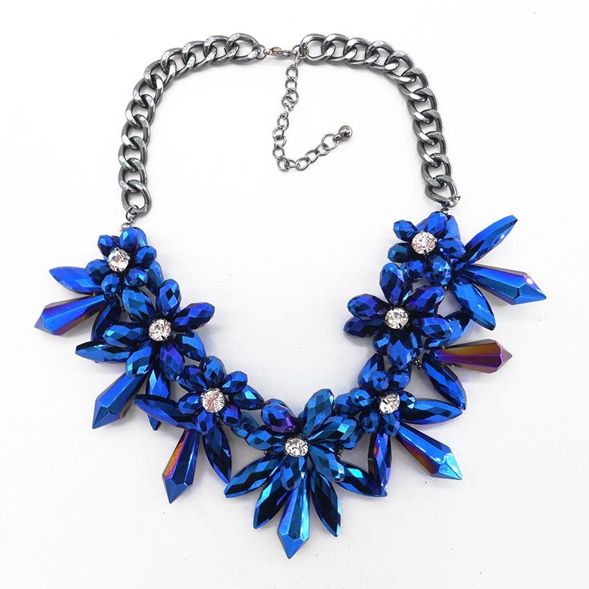 2016 Blue Flower Crystal Big Brand Best Gifts Gem ...