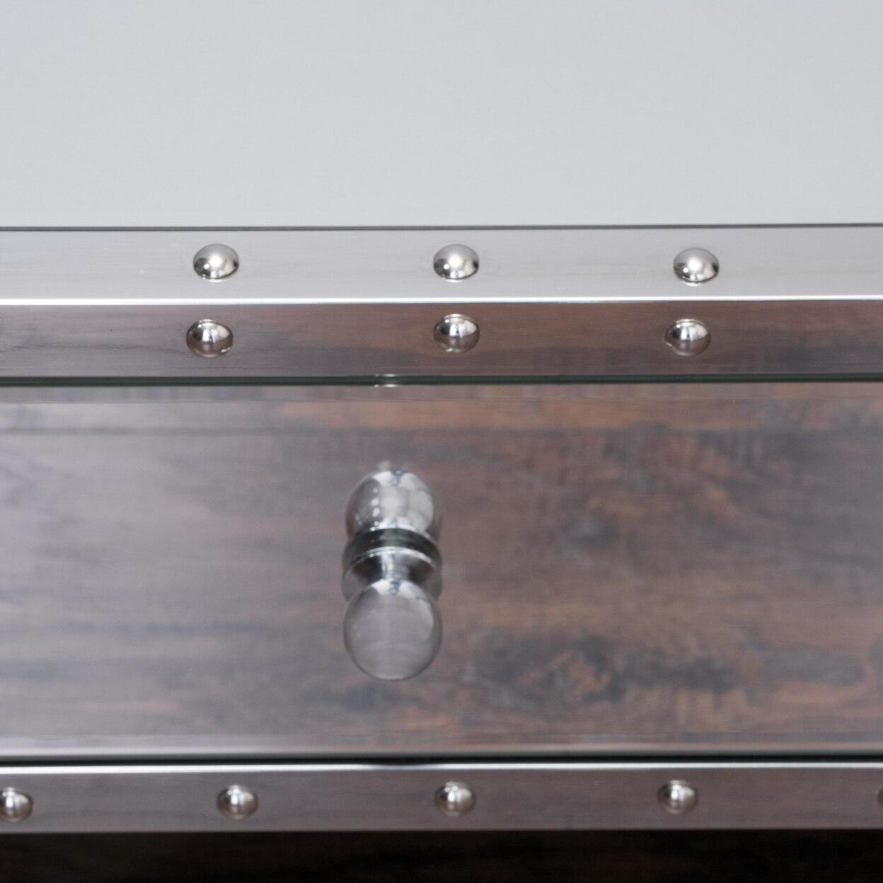 Ryanne Studded Mirrored Drawer Coffee Tablein Coffee Tables From - Studded coffee table