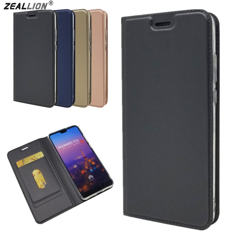ZEALLION For Huawei P8 P9 P10 P20 P30 <font><b>Lite</b></font> <font><b>Mate</b></font> 9 <font><b>10</b></font> 20 Pro Nova 2i Magnetic Voltage PU Leather Card Slot <font><b>Flip</b></font> Stand <font><b>Case</b></font> Cover image