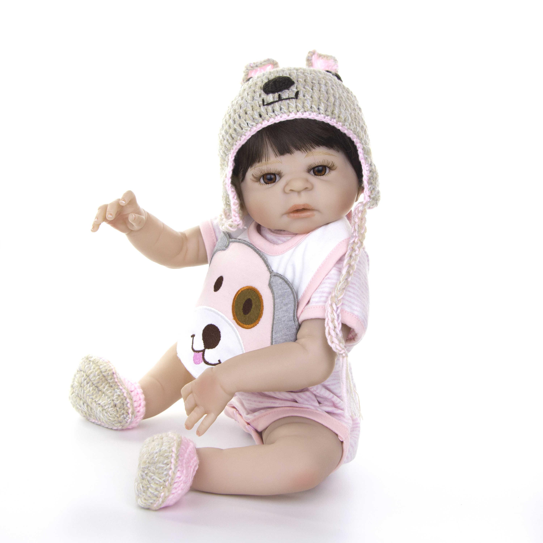 KEIUMI новый дизайн Boneca Reborn куклы ручной работы игрушки Детский Возрожденный силикон полный тело мальчик playmate DIY Сюрприз подарок
