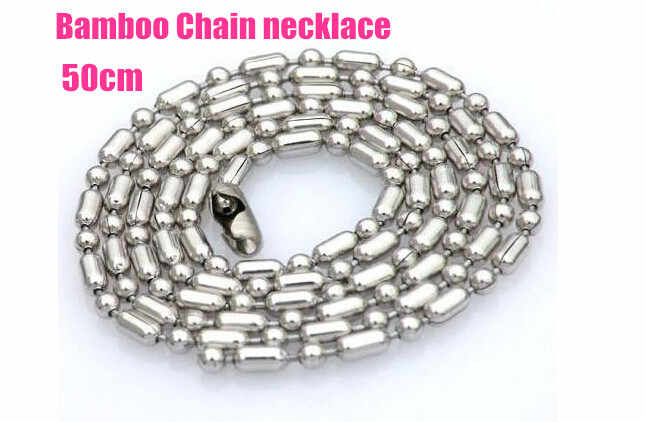 Stainless Steel Silver Ball Beads Chain Men Necklace Bracelet Jewelry Making Accessories