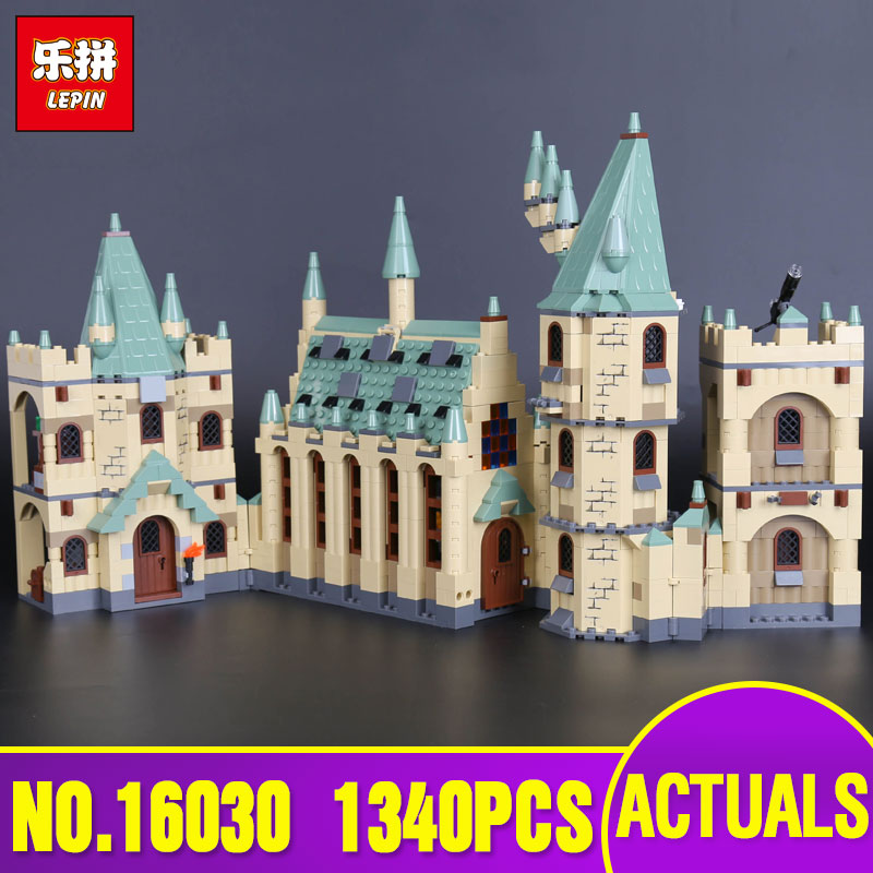 Lepin 16030 1340pcs Creative Movies The Hogwarts Castle Building Block Bricks Compatible 4842 Educational Toy for children gift lepin 16030 1340pcs movie series hogwarts city model building blocks bricks toys for children pirate caribbean gift
