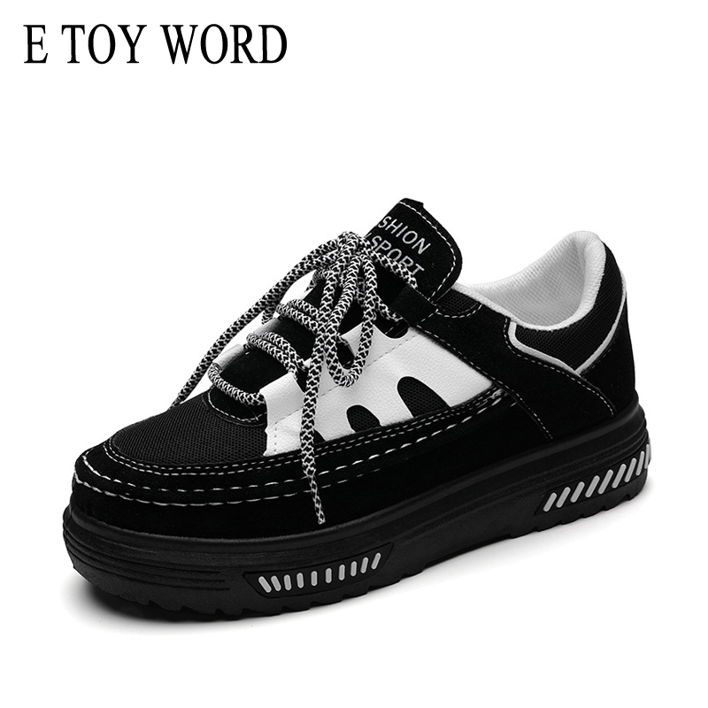 E TOY WORD Sneakers women Harajuku style autumn shoes platform casual white shoes Sneakers Casual Shoes e toy word women boots autumn winter