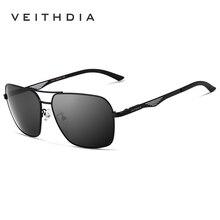 VEITHDIA Men's Polarized Sunglasses Designer Vintage Square for Men Driving Black Glasses masculino oculos sunglass 2459