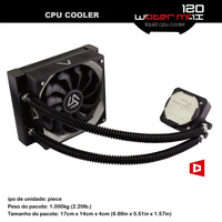 WATER MAX 120 Liquid Cooling With 120mm Fan Aluminum Radiator Aluminum Radiator Coper Cooling Block 1800RPM