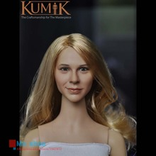 1/6 KUMIK Head Sculpt Female Figure Head Model Lifelike Girl 12″ Action Figure Accessory Collection Doll Toys Gift KM15-17