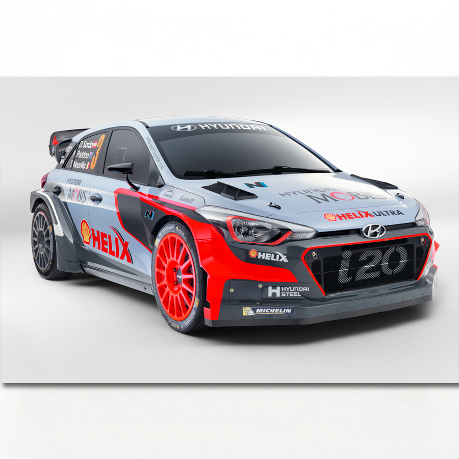 Sport Car Hyundai I20 WRC Race Racing Vehicles Poster Canvas Art Prints Wall Paintings For Living Room Decor