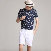 Men Romper Hip Hop Short Sleeve Flower Boyfriend Romper Playsuit Heren Overalls One Piece Jumpsuit Mameluco Hombre