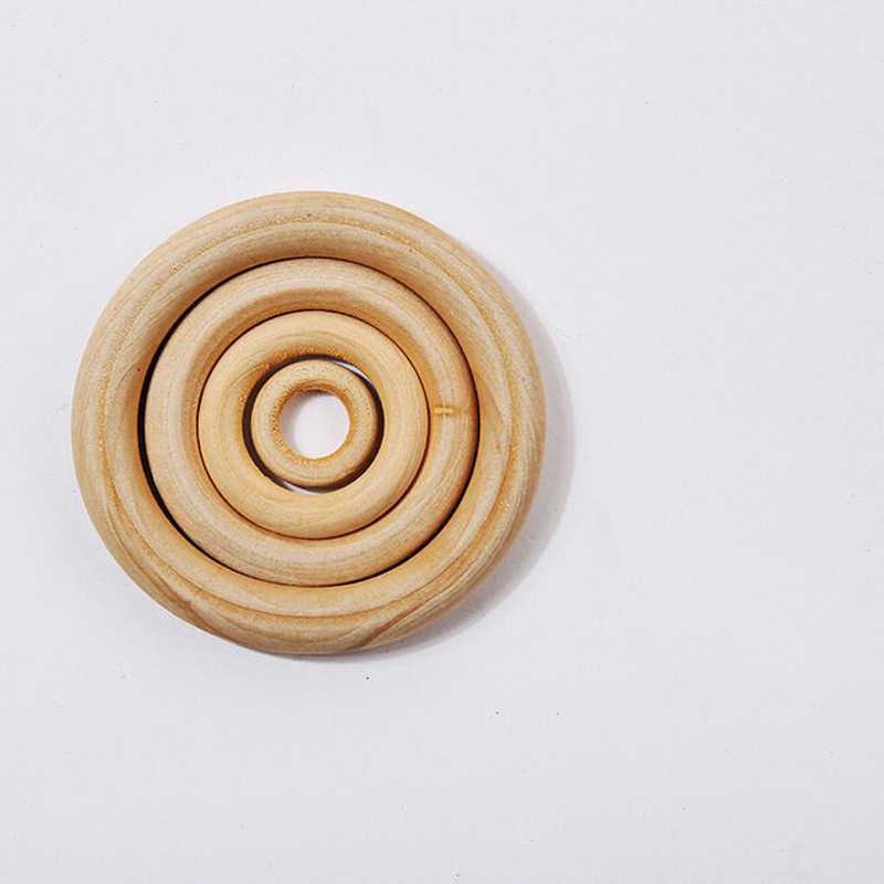 50Pcs แหวน Rattles แหวนสร้อยข้อมือสร้อยคอมือ Bell Teether เด็กของเล่นเพื่อการศึกษาสำหรับทารกแรกเกิด DIY ประกอบไม้