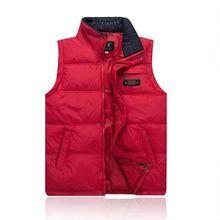 купить Brieuce 2018 Brand Men's Vest Jacket Coat Sleeveless Vests Homme Winter Casual Male Plus size 4XL Warm Jacket Vest Men Waistcoat дешево