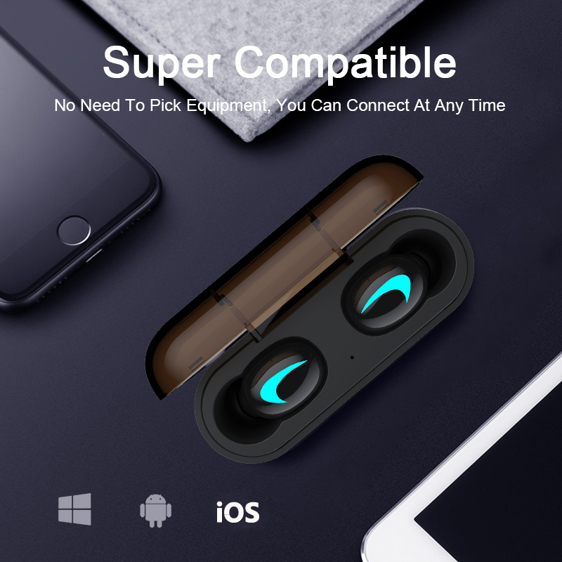 M&J TWS 5.0 Bluetooth Earphone With 3D Stereo IPX5 Waterproof And Power Bank 13