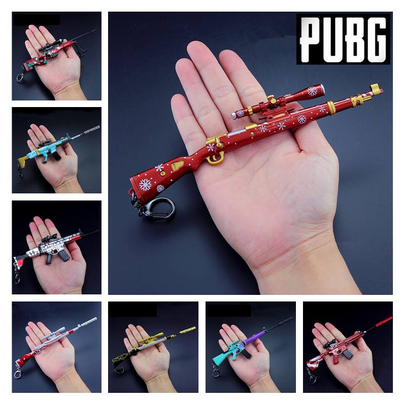 Nice Pubg Game Playerunknowns Battlegrounds Cosplay Props Christmas Camouflage Graffiti 98k M416 Awm Gun Keychain Toys 6pcs/set New To Clear Out Annoyance And Quench Thirst Costume Props