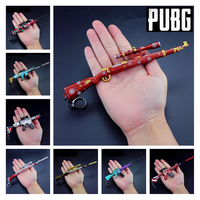 PUBG Game Playerunknown's Battlegrounds Cosplay Props Christmas Camouflage Graffiti 98K M416 AWM Gun Keychain Toys 6Pcs/Set New
