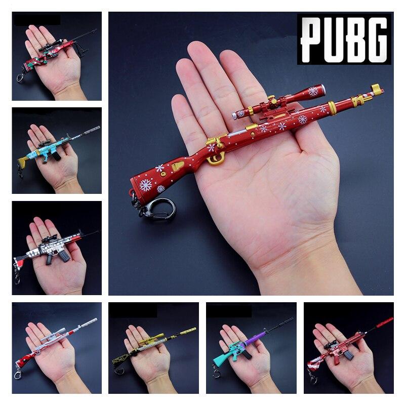 PUBG jeu playerinconnu champs de bataille Cosplay accessoires noël Camouflage Graffiti 98 K M416 AWM pistolet porte-clés jouets 6 pièces/ensemble nouveau