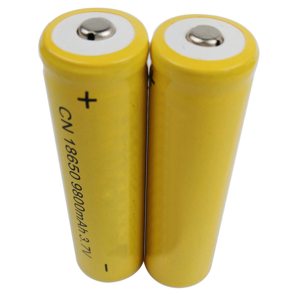CARPRIE 2PCS 18650 3.7V 9800mAH Li-ion Rechargeable Battery For LED Flashlight Torch For emergency lighting portable device 4 8pcs 100% unitek 3 7v 10440 li ion battery 320mah aaa 3a rechargeable lithium ion cell for led laser flashlight torch