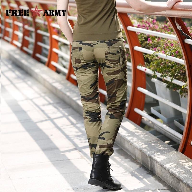 Moda Žene maskirne hlače ženske vojne tereta olovka pant Slim - Ženska odjeća - Foto 6